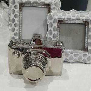 Silver Camera Decor